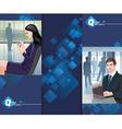 business man woman vector image