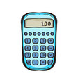 calculator isolated equipment for business vector image