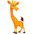 Cartoon giraffe vector image vector image