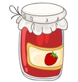 cartoon home kitchen jar vector image vector image