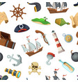cartoon sea pirates pattern or background vector image vector image