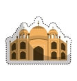 catedral rome isolated icon vector image vector image