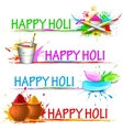 Colorful Happy Holi vector image vector image