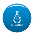 dragon fruit icon blue vector image vector image
