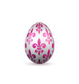 easter egg 3d icon color egg isolated white vector image vector image