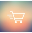 Fast delivery shopping cart thin line icon vector image vector image