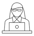 Female consultant icon outline style vector image vector image