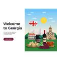 georgia tourism flat design vector image vector image