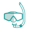 googles snorkels isolated icon vector image vector image