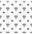 hand drawn diamonds abstract seamless pattern vector image vector image
