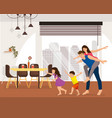 happy family enjoying new apartment cartoon vector image vector image