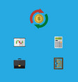 icon flat finance set of abacus calculator vector image vector image