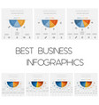 infographics color semicircles templates with vector image