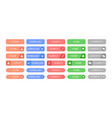 interface menu buttons set collection of colored vector image vector image