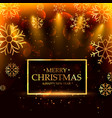 luxury style merry christmas background with vector image vector image