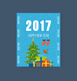 merry christmas happy new year greetings card vector image vector image