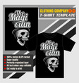 mock up clothing company t-shirt templatea vector image vector image