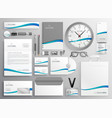modern clean business stationery set design vector image vector image