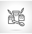 Nutrition supplements simple line icon vector image