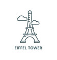 pariseiffel tower line icon linear vector image