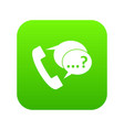 phone sign and support speech bubbles icon digital vector image vector image