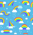 rainbow pattern colored textile designs vector image vector image