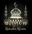 ramadan kareem night mosque with lights vector image