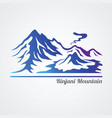 rinjani mountain vector image