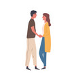 romantic couple on a date enamored woman and man vector image vector image