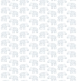 seamless pattern lamb Doodle vector image vector image