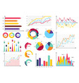 set elements of infographics vector image vector image