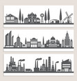 set horizontal banners with monochrome vector image vector image