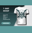 skull pilot t-shirt template fully editable vector image vector image