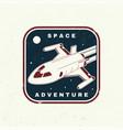 space adventure logo badge shirt t design vector image