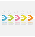 Timeline infographic ribbon arrow circle text Flat vector image vector image