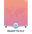 travel poster around the world ready to fly vector image