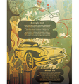 Vintage background with car vector | Price: 1 Credit (USD $1)