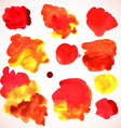 watercolor red stains vector image vector image