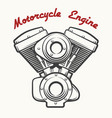 motorcycle engine emblem vector image