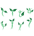 Green peoples with leaves vector image