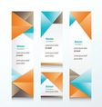 abstract banner set Brown orange blue color vector image