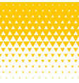 abstract yellow triangle halftone background vector image vector image