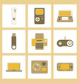 assembly flat icon game console flash drive vector image vector image