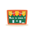 back to school education design vector image