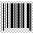 Bar code sign Flat style black icon on vector image vector image