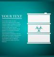biological hazard or biohazard barrel flat icon on vector image vector image