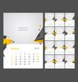 calendar design for 2019 set of 12 calendar pages vector image vector image