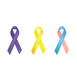 Cancer awareness ribbons vector | Price: 1 Credit (USD $1)
