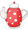cartoon home kitchen kettle vector image vector image