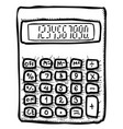 cartoon image of calculator icon mathematics vector image